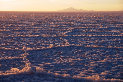 Sunrise in the Salar de Uyuni - most magic time of the day