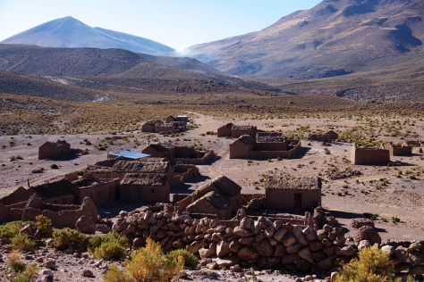 Remote town in the mountains close to Colcha K