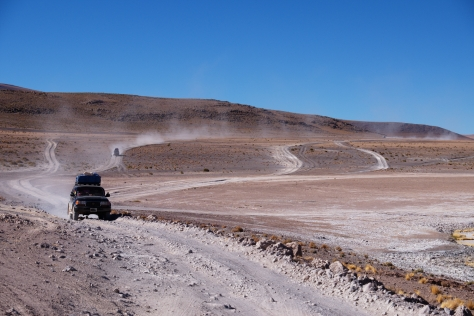 South of Laguna Hedionda - 4x4 vehicles approaching