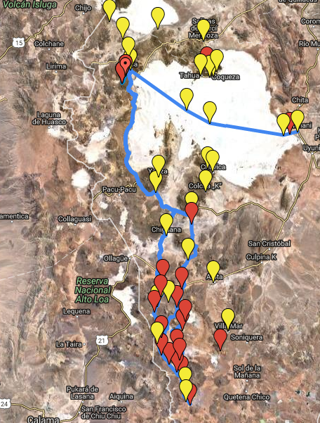 Altiplano Hiking Map - Part 1