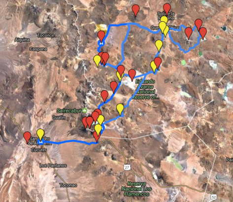 Altiplano Hiking Map - Part 2