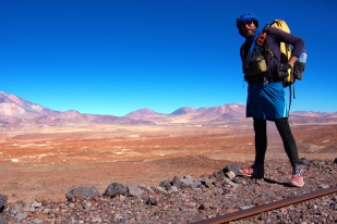 Andes in the background - still a long way to Argentina