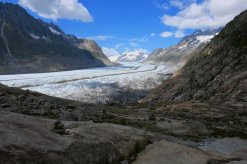 View on the Great Aletsch Glacier with the Jungfrau in the back