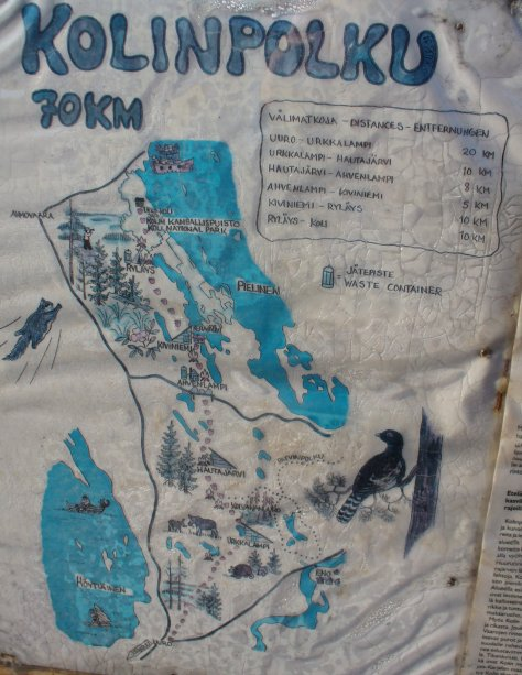 Map of the Kolinpolku Hiking Trail