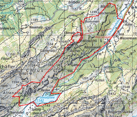 Hiking Map Seelalpsee