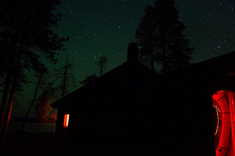 One of the lonely huts close to Inari