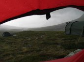 Camping in the middle of the Sarek National Park