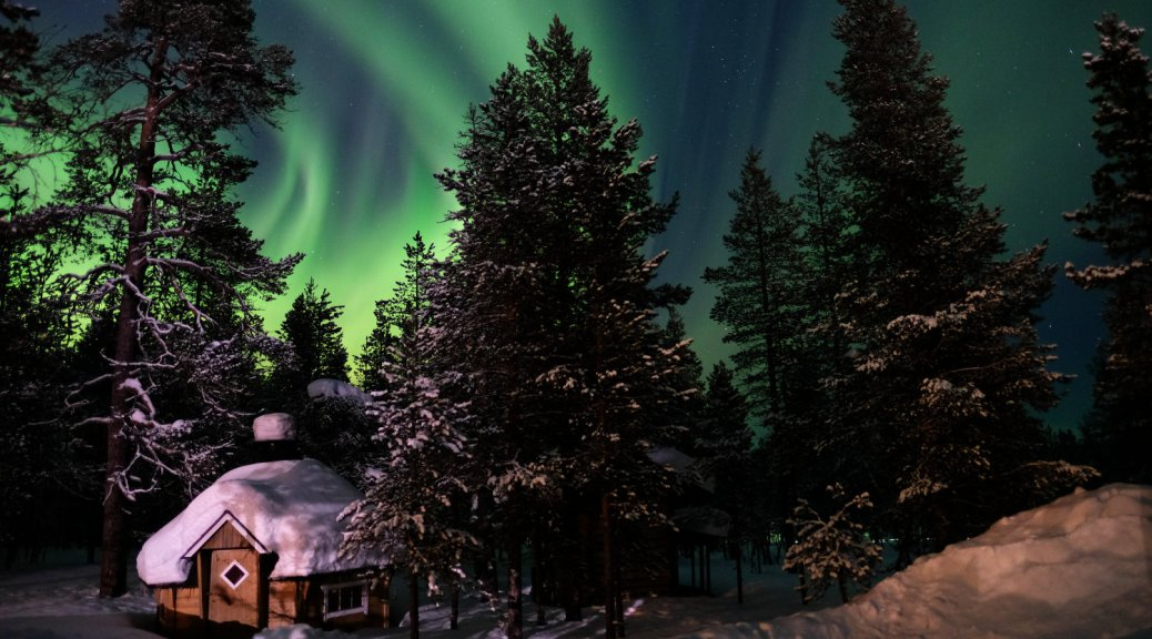 Enjoying the Aurora Borealis in Finland
