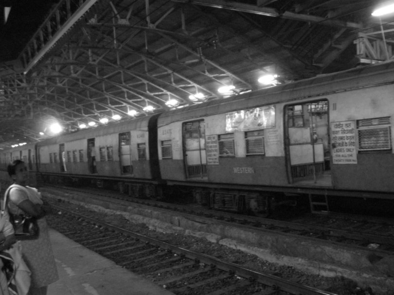 One of the multiple train stations we went to in India