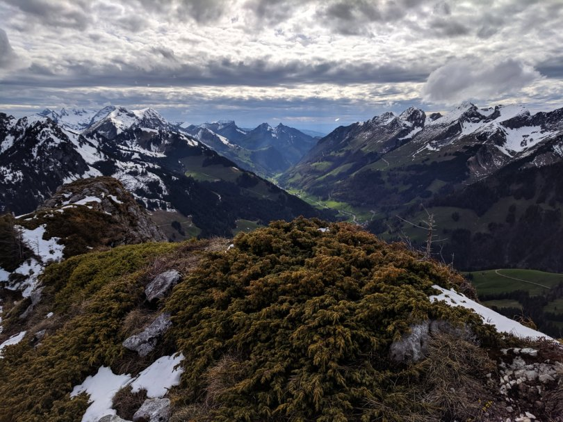 View from climbing up the Bäderhorn