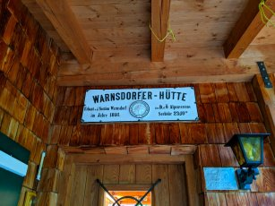 On the Warnsdorfer Hütte