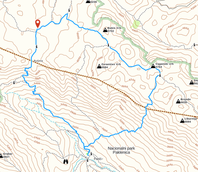 Day 1 Hike - Map