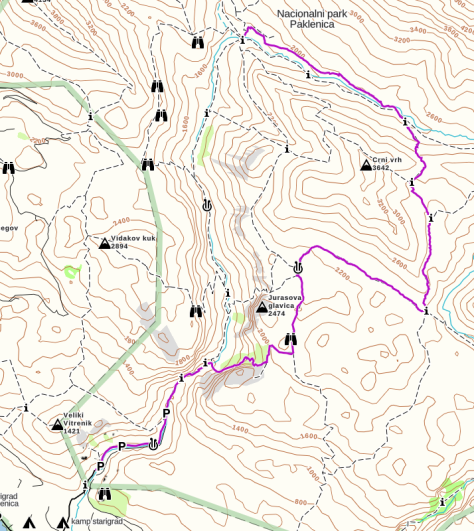 Day 2 Hike - Map