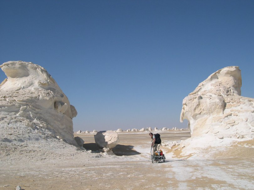 Hiking the White Desert - Egypt