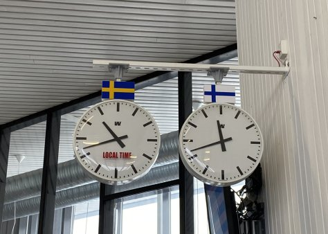 Time differences between Finnish and Swedish times