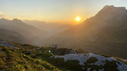 Sunset at the Klausenpass