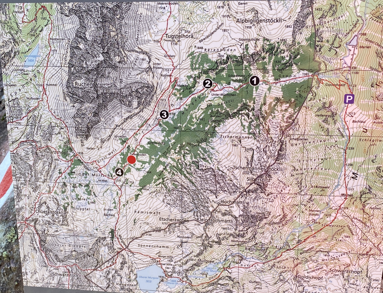 Map of the Murgsee Circuit Trail