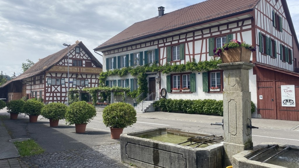Swiss town close to the border