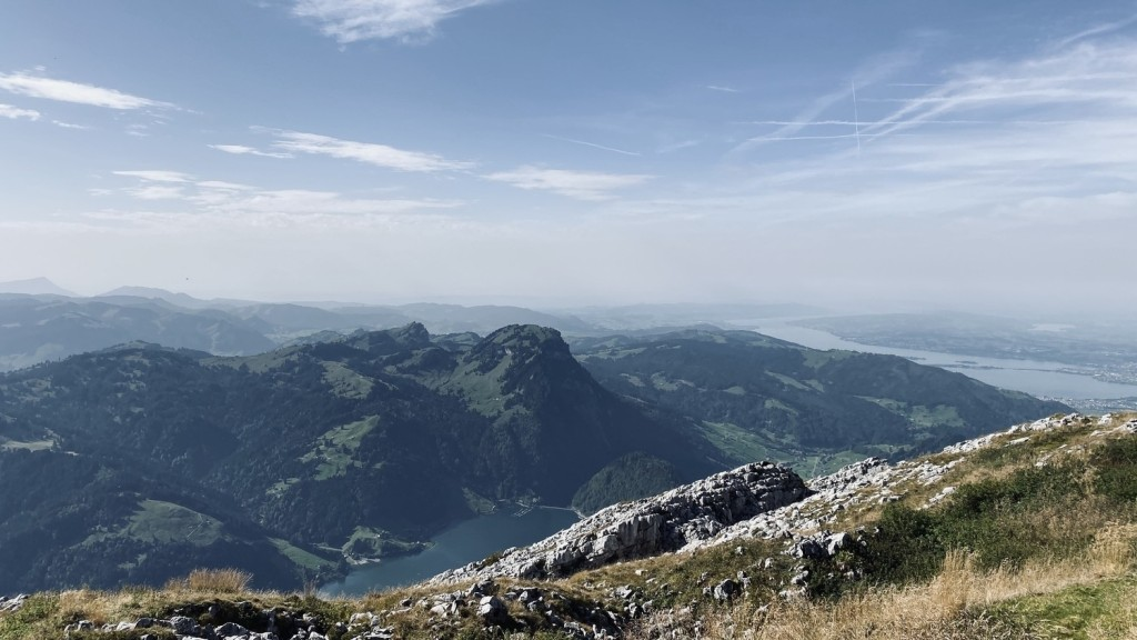 View from Schiberg - Zurich Lake in the background
